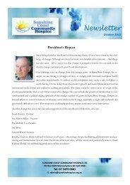 Newsletter - Sunshine Coast Community Hospice