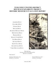Historic Resource Evaluation Project - Tuolumne Utilities District