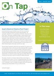 On Tap – Click Here - Tuolumne Utilities District