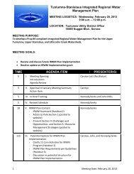 Meeting Handouts – February 20 2013 - Tuolumne Utilities District