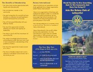 Download our Membership Brochure from here - The Rotary Club of ...