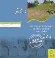 Téléchargez le programme des sites archéologiques.