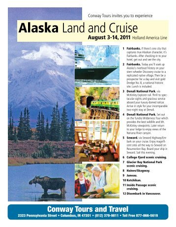 Alaska Cruise and Land on Holland America - Conway Tours in ...
