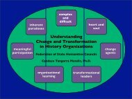 Understanding Change and Transformation in History Organizations