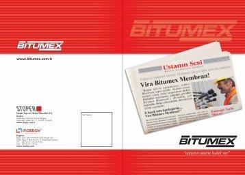 PDF dosyasını açmak için - Bitumex.com.tr