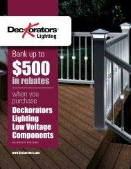 Deckorators Low Voltage Lighting Rebate Information and Form