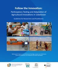 Follow the Innovation: Participatory Testing and Adaptation of - ETC