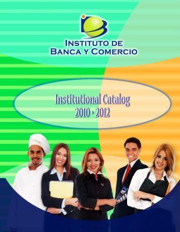 ibc catalog 2010-2012 english 6/10 - Instituto de Banca y Comercio