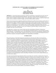 a hierarchical river stability/watershed-based sediment - Wildland ...