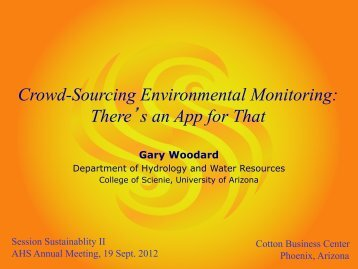 Intro Page Crowd-Sourcing Environmental Monitoring - Arizona ...