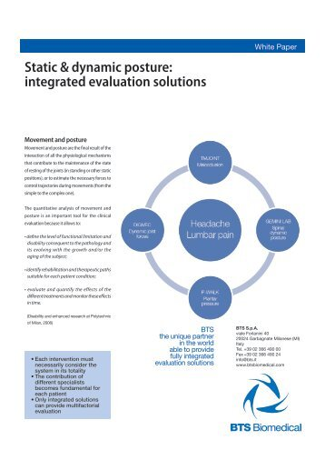 Static & dynamic posture: integrated evaluation solutions - Bts.it