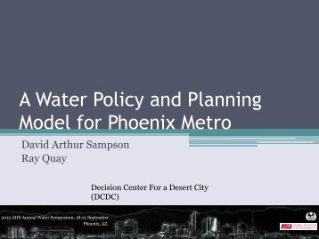 A Water Policy and Planning Model for Phoenix Metro