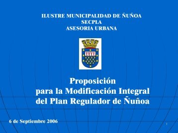 Proposición para la Modificación Integral del Plan Regulador de ...