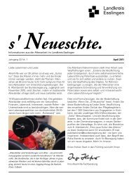 s'Neueschte - Landkreis Esslingen