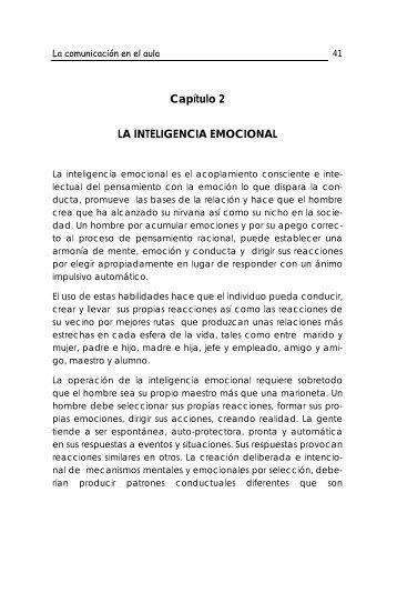Capítulo 2 LA INTELIGENCIA EMOCIONAL - Ecotropicos
