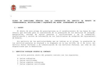 090710 Pliego PT Servicios Postales def.pdf - Ayuntamiento de ...