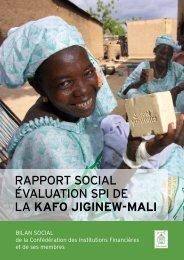 RappoRt social évaluation spi de la kafo jiginew-Mali - Cerise