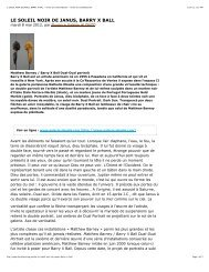 LE SOLEIL NOIR DE JANUS, BARRY X BALL - revue art ...