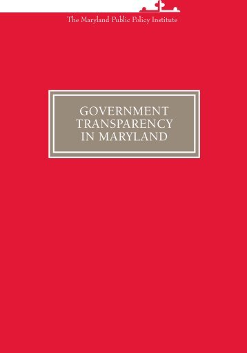 pdf version - The Maryland Public Policy Institute
