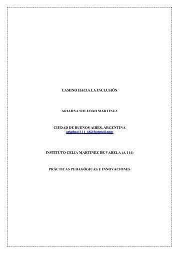 CAMINO HACIA LA INCLUSIÓN ARIADNA SOLEDAD MARTINEZ ...