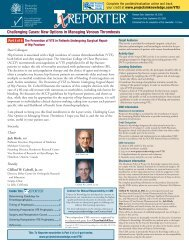Challenging Cases: New Options in Managing Venous Thrombosis