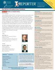 New Options in Managing Venous Thrombosis - Projects In ...