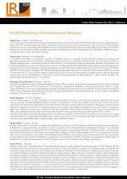 profilo dei relatori - IR Top