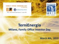 Milano, Family Office Investor Day - March 4th, 2013 - VedoGreen
