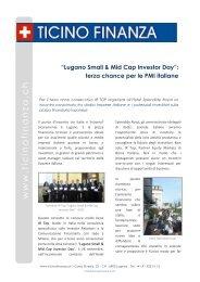 Lugano Small & Mid Cap Investor Day - IR Top