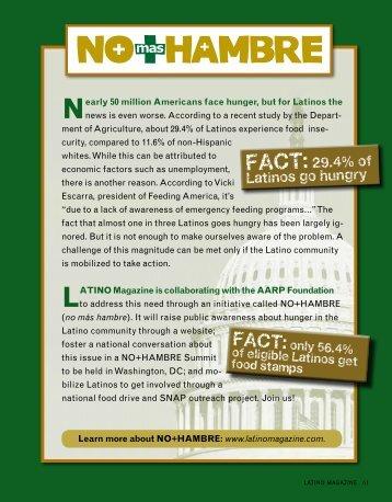 mas FACT:29.4% of Latinos go hungry - Latino Magazine