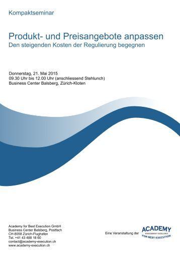 """Programm Kompaktseminar """"Produkt- und Preisangebote anpassen"""""""