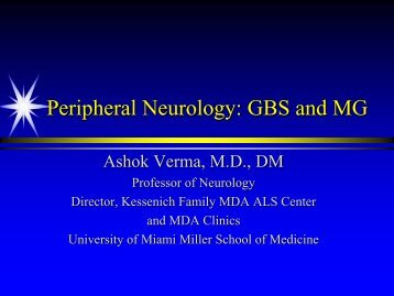 Peripheral Neurology: GBS & MG