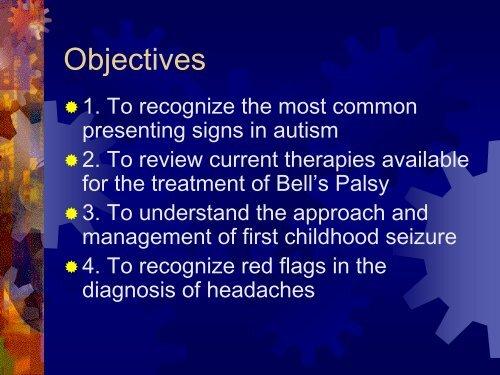 Pearls in Child NEurology - Florida Society of Neurology
