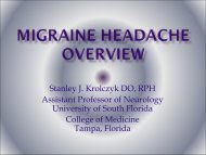 Migraine Headache Overview - Florida Society of Neurology