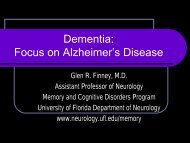 Dementia - Florida Society of Neurology
