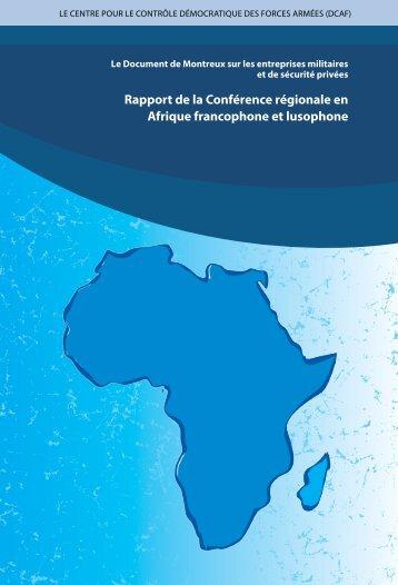 Rapport de la Conférence régionale en Afrique francophone et lusophone