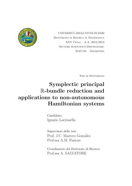 Symplectic Principal R Bundle Reduction And Applications To
