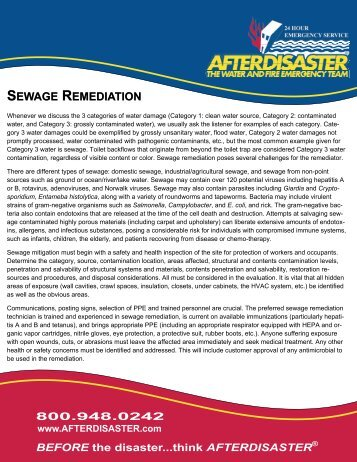 SEWAGE REMEDIATION - AfterDisaster