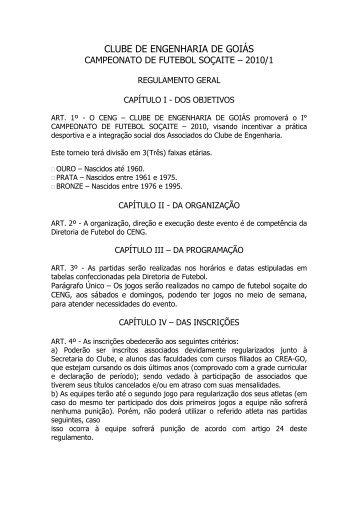 CLUBE DE ENGENHARIA DE GOIÁS