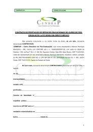 contrato de prestação de serviços educacionais do curso de pós