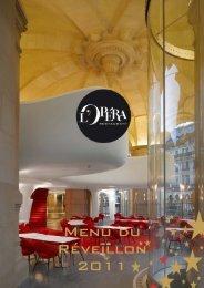 Menu du Réveillon 2011 - L'Opera Restaurant