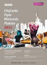 CityCards Flyer Minicards Plakate 2011 - Dinamix Media GmbH