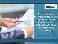 In-Depth Analysis on Global Managed Security Services Market 2013-2020