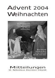 Mitteilungen Weihnachten 2004 - St. Nikolaus