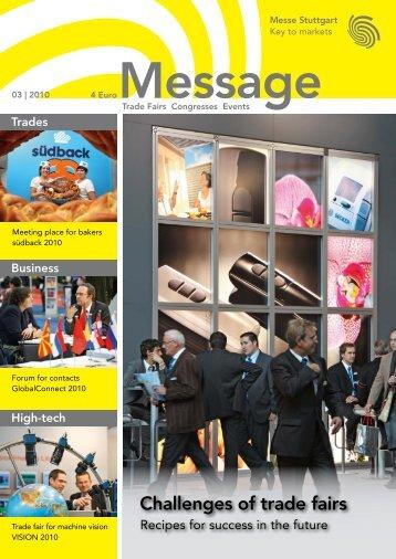 Message issue 3/2010 - Messe Stuttgart
