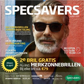 Specsavers folder 20 april t/m 3 mei 2015