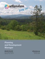 Planning and Development Manager - ASLA Oregon