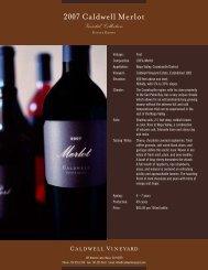 2007 Caldwell Merlot Varietal Collection - Caldwell Vineyard