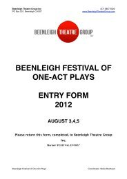 beenleigh festival of one-act plays entry form 2012 august 3,4,5