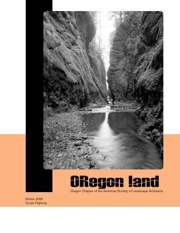 Winter 2006 Issue - ASLA Oregon